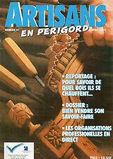 ARTISANS EN PERIGORD + N° 81 - 1995 + Menuiserie + Jean PAQUET = Savoir vendre