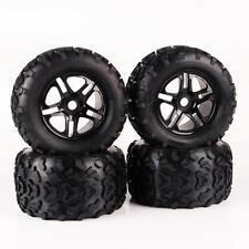 1/8 Scale RC Monster Truck Block Tire & D5 Wheel 4PCS Fit Traxxas 26401
