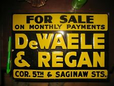 1940's Real Estate Sign Stamped Tin-New Stock-Never Used