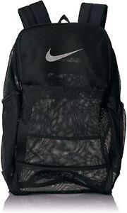 Nike BRASILIA Mesh 'See Through' School Gym Backpack BA6050 010 - Black