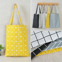 Shopping Handbag Canvas Shoulder Tote Satchel Eco Messenger Bag Square Star bags
