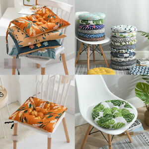 Washable Dining Room Seat Pad Kitchen Garden Round Padded Booster Chair Cushions