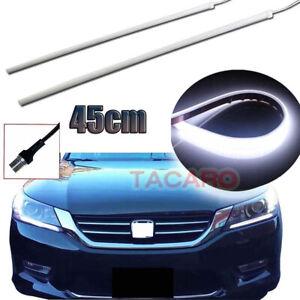 2x Ultrafine Car LED Strip Daytime Running Light DRL Lamp For Headlight Retrofit