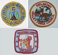 PA187 1950s Camp Delmont Valley Forge Council Cut-edge Border Patch