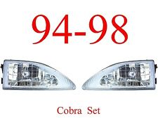 94 98 Mustang Cobra 2Pc Head Light Set, Ford, Complete Assemblies, 95, 96, 97
