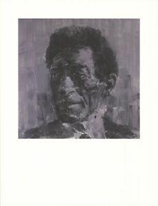Yan Pei-Ming Portrait De Giacometti 33.5 x 25.5 Décalé Lithographie 1995 Noir &