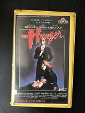 The Hunger Ex-Rental Vintage Big Box VHS Tape English with dutch subs Horror