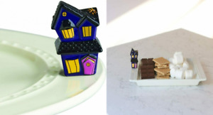 Nora Fleming Hand-Painted Mini: Spooky Spaces (Haunted House) A253