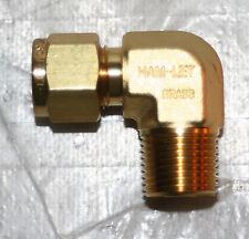 "Conector macho de compresión neumática Aire Agua Stud Tubo 45 codo 1//4/"" X 1//8npt"