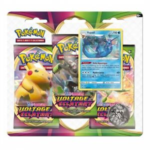 Pokémon EB03 Epée et Bouclier - Voltage Eclatant : Pack 3 boosters Aquali