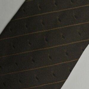 "Brown Striped UNGARO Silk Tie 3.8"" Wide 57"" Long"
