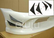 Urethane Front Bumper Lip Body Kit Canard Splitter Racing Sport Style Diffuser