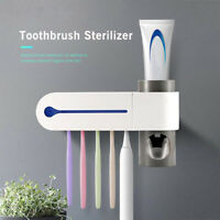 3-in-1 Automatic UV Sterilizer Toothbrush Holder Toothpaste Dispenser  Squeezer