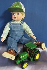Danbury Mint John Deere Porcelain Doll Bobby With John Deere Tractor New in Box
