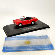IXO 1/43 Fiat 800 Spider 1966 Red Diecast Models Limited Edition Collection