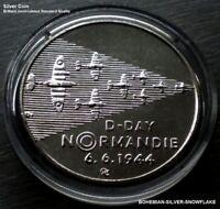 200 CZK Korun WWII Operation D-Day Landing in Normandy - 1994 Czech Silver Coin