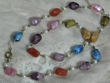 Pearl Glass Necklace Art Deco Costume Jewellery