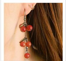 new Zinc Alloy Cherry agate texture vintage look  fashion earrings for women