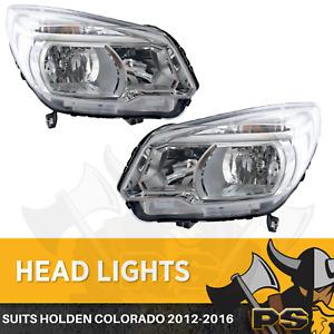 Holden Colorado RG 2012-2016 Headlights Pair Left+Right Head Lamps