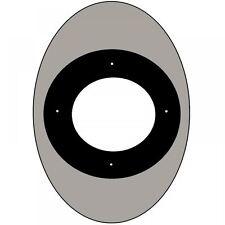 Oval Black 90cm Glass Splashback Chimney Smoke Island Cooker Hood Safety Guard