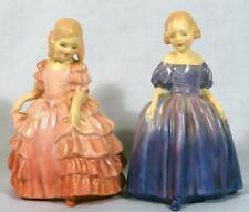 2 Vintage Royal Doulton Rose Hn1368/ Marie Hn1370 Porcelain Lady/Girl Figurine