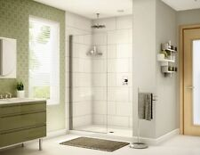 "FLEURCO 34"" x 75"" BANYO SIENA SOLO 1/4"" GLASS FRAMELESS SHOWER SHIELD DOOR"