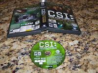 Csi: Crime Scene Investigation 3 Dimensions Of Murder (PC, 2006) Game (Mint)