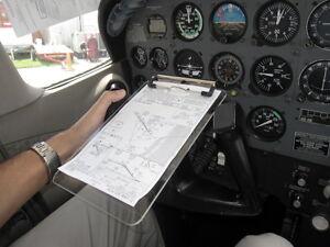 JP Aviation Yoke Mounted Clipboard, Translucent. Better than Aviation Kneeboards