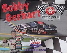 2014 BOBBY GERHART LUCAS OIL SLICK MIST 8X CHAMPION #5 NON NASCAR ARCA POSTCARD