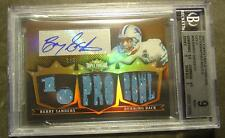 2007 TRIPLE THREADS BARRY SANDERS AUTO JERSEY BGS 1/9