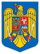 Romania stemma coat of arms etichetta sticker 9cm x 13cm