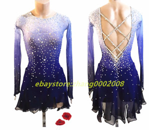 Sparkles Ice Skating Dress.Competition Figure Skating Dance Twirling Costume