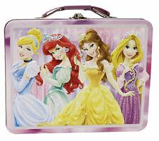 Disney Princess Metal Tin Lunch Box Beauties NEW Toys Kids Carrier Belle