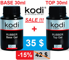 2pcs! 30ml. BASE + TOP Rubber. sale 15%! Kodi Professional - Gel LED/UV ORIGINAL