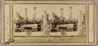 Italia Pompei Ruines Tempio Da Giove Foto Stereo P8L1n Vintage Albumina c1860
