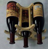 RTA Wooden 6 Bottle Wine Rack Freestanding Countertop Display Bottle Holder