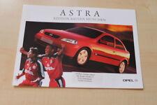 66018) Opel Astra Edition FC Bayern München Prospekt 02/2000