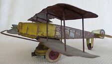 Great Vintage 1920s Kingsbury Tin Taxiplane Airplane Toy