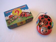Vintage 1950's 60's Tin Litho Wind Up Ladybug & Tortoise Flip Over Toy NIB NOS