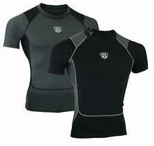 Mens Compression Armour Base Layer Top Half Sleeve Gym Sports Shirt MS