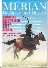 Merian Budapest und Ungarn Juni 1992/ Heft 6/ 45. Jahrgang Pferde Konsorten