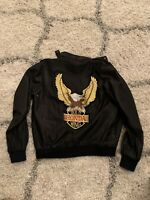 Vintage Original 1970s Honda Goldwing AMA Jacket Small Rare Patch OG Black Zip