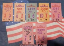 7  VINTAGE 1936 TROPICAL PARK HORSE RACING $2 DAILY DOUBLE BETTING TICKETS~RARE