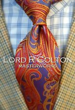 Lord R Colton Masterworks Tie - Limited Edition Sahara Fire Necktie - New