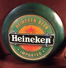 Vintage Heineken Lighted Beer Sign Round Bar Sign Holland