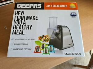 Geepas Electric Salad Maker 4 in 1 Slicer Fruit Cutter Vegetable Grater Chopper