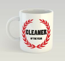 Cleaner Of The Year Funny Mug Gift Novelty Humour Birthday Clean