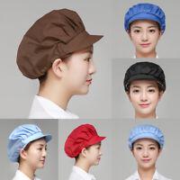 Unisex Adjustable Kitchen Cook Chef Baker Elastic Cap dust-proof Hat Casual Hot