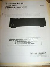HARMAN KARDON PA2200 ORIGINAL TECHNICAL SERVICE MANUAL