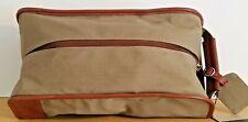 Cutter & Buck Men's Travel Shoe Bag Twill & Top Grain Leather